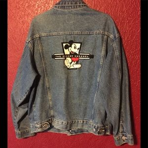 RARE! THE DISNEY CHANNEL Mickey Mouse Jean Jacket